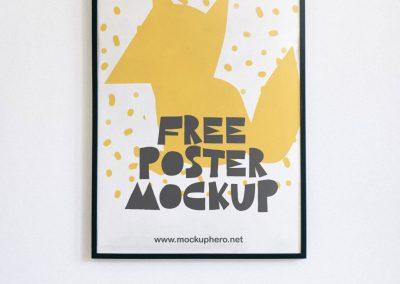 Free Poster Psd Mockup MockupHero 1 1024x1563