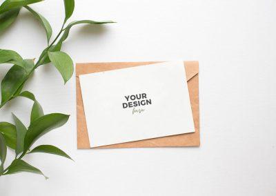 Invitation Card Mockup Free PSD 1000x750